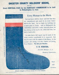 Chester County PA Civil War Soldier Socks