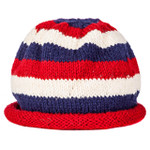Rolled brim cap in red/white/blue