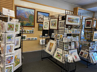Our Art Gallery features local artists from the Eastern Sierra including Mammoth and Bishop Artists. We offer original art, prints and cards all from local artists.