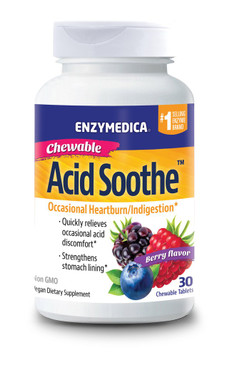 ACID SOOTHE CHEWABLE - BERRY (60 CHEWABLE TABLETS)- By Enzymedica