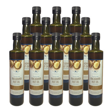 Macadamia Nut Oil Case of 12 - 500ml (16.9oz) Bottles - Free Shipping!