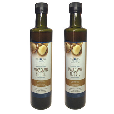 Macadamia Nut Oil 2 - 500ml (16.9oz) Bottles - Free Shipping!