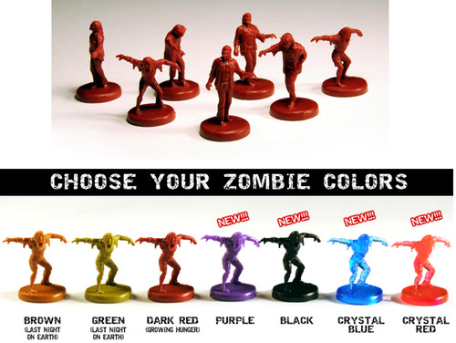 One Last Night On Earth Zombie Miniature Set (Solid colors) - Flying