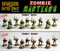 One set of LNOE/IFOS Zombie Martian Miniatures