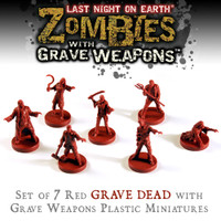 LNOE: Red Zombies With Grave Weapons Miniature Set