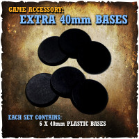 Shadows of Brimstone: 6x 40mm Extra Bases