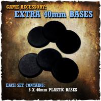 Shadows of Brimstone: 6x 40mm Extra Bases