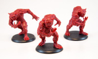 Shadows of Brimstone: 3 Night Terror Miniatures in Red
