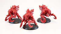 Shadows of Brimstone: 3 Slasher Miniatures in Red