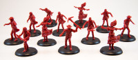 Shadows of Brimstone: 12 Hungry Dead Miniatures in Red