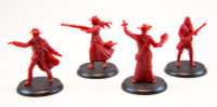 Shadows of Brimstone: Swamps of Death Hero Miniatures in Red