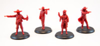 Shadows of Brimstone: City of the Ancients Hero Miniatures in Red