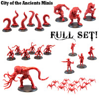 Shadows of Brimstone: City of the Ancients Miniatures Full Set in Red (Original Versions)