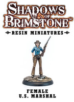 Shadows of Brimstone: Resin Female U.S. Marshal LIMITED PREVIEW