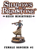 Shadows of Brimstone: Resin Female Rancher #2 LIMITED PREVIEW