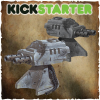 Shadows of Brimstone: Original Kickstarter Backers ONLY Derelict Ship Auto Turrets Upgrade