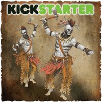 Shadows of Brimstone: Original Kickstarter Backers ONLY Tribal Ghost Warriors Upgrade