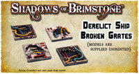 Shadows of Brimstone: Derelict Ship Broken Grates 3D Resin LIMITED EDITION