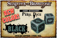 Shadows of Brimstone: Black Peril Dice (Set of 2)