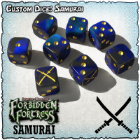 SOBS: Forbidden Fortress Custom Dice Set - Samurai