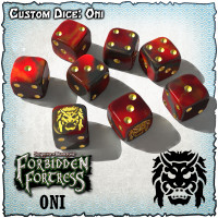 SOBS: Forbidden Fortress Custom Dice Set - Oni
