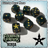 SOBS: Forbidden Fortress Custom Dice Set - Ninja