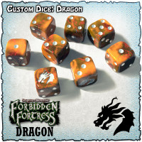 SOBS: Forbidden Fortress Custom Dice Set - Dragon