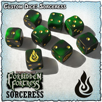 SOBS: Forbidden Fortress Custom Dice Set - Sorceress