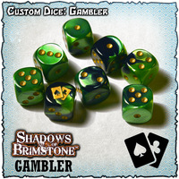 Shadows of Brimstone Custom Dice Set - Gambler