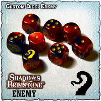 Shadows of Brimstone Custom Dice Set - Enemy