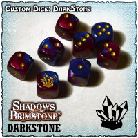 Shadows of Brimstone Custom Dice Set - Darkstone