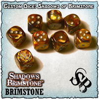 Shadows of Brimstone Custom Dice Set - Brimstone Logo
