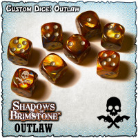 Shadows of Brimstone Custom Dice Set - Outlaw