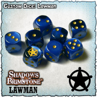Shadows of Brimstone Custom Dice Set - Lawman