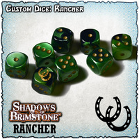 Shadows of Brimstone Custom Dice Set - Rancher