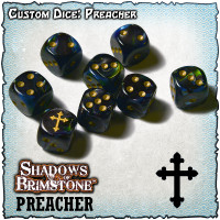 Shadows of Brimstone Custom Dice Set - Preacher