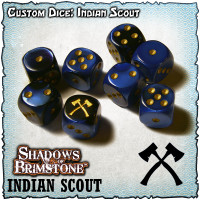Shadows of Brimstone Custom Dice Set - Indian Scout