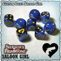 Shadows of Brimstone Custom Dice Set - Saloon Girl