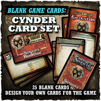 Shadows of Brimstone: Blank Cards - Cynder Card Set