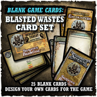 Shadows of Brimstone: Blank Cards - Blasted Wastes Card Set