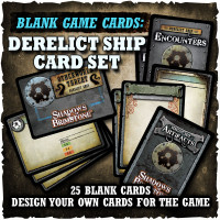 Shadows of Brimstone: Blank Cards - Derelict Ship Card Set