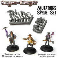 Shadows of Brimstone: Resin Mutation Sprue Miniature Set LIMITED EDITION