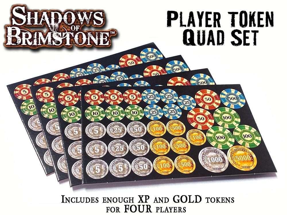 Player Token Set Shadows of Brimstone NEW