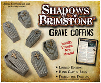 Shadows of Brimstone: Grave Coffins Resin LIMITED EDITION