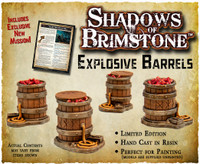 Shadows of Brimstone: Explosive Barrels Resin LIMITED EDITION