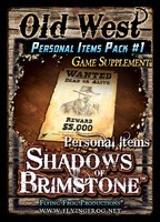 Shadows of Brimstone: Old West Personal Items Pack #1 Supplement