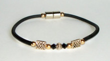 Single Corded Jersey Girl Celtic with Black Crystal & Gold