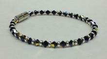 Jet Black Swarovski Crystal Beaded Bracelet