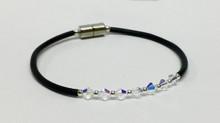 Clear Swarovski Crystal Corded Anklet