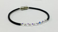 Clear Swarovski Crystal Single Corded Bracelet